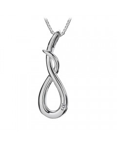 Hot Diamonds Sterling Silver Go With The Flow Curl Pendant DP196